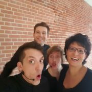 Gruppenfoto Business- Improvisationstheater bei Envia Service